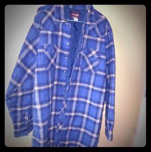 Wrangler XXL Tall Man Plaid Shirt